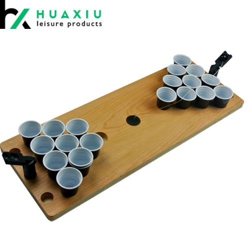 plastic wood mini beer pong tables