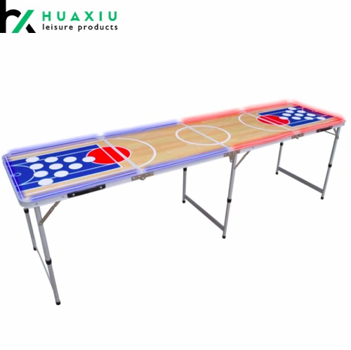 8ft custom design beer pong tables with led lightning