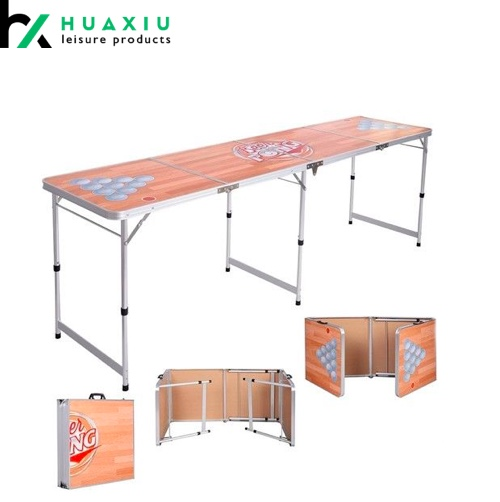 8ft camping tailgate table cheap beer pong table