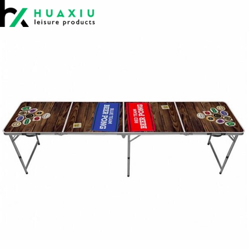 8ft standard aluminum folding table custom beer pong tables