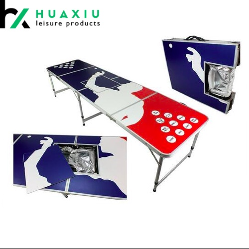 8ft custom design beer pong tables with ice bag