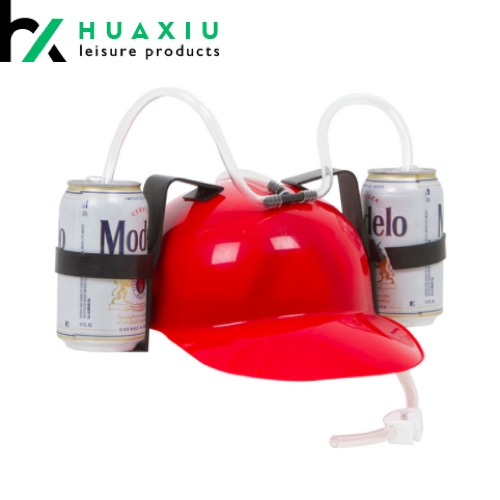 Beer and Soda Drinking Helmet Party Hat