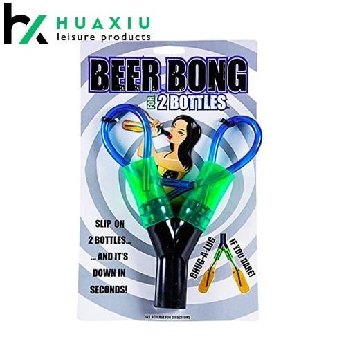 portable double beer bong funnel for Chugging at College Parties