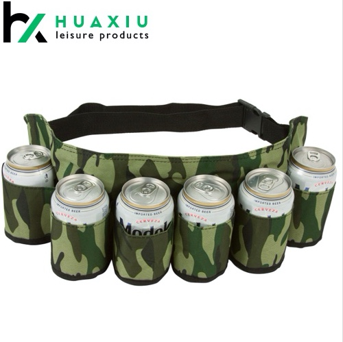 Beer  and Soda Can Holster Belt, Holds 6 Beverages
