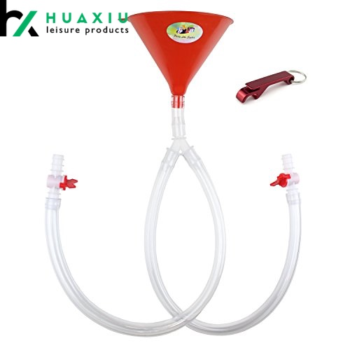 double beer bong funnel with valve